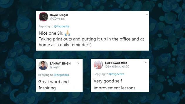 Harsh Goenka's tweet prompted people to share various reactions.(Twitter)