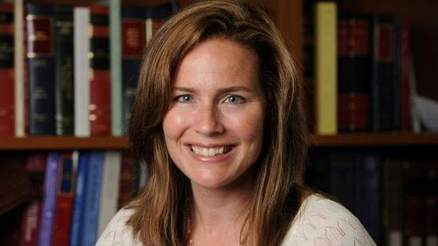 US Court of Appeals for the Seventh Circuit Judge Amy Coney Barrett.(via REUTERS)
