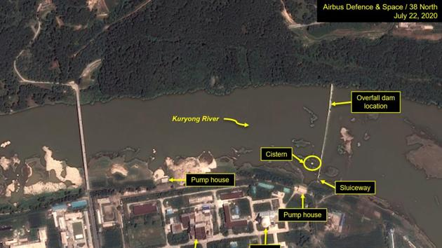 A view of the Yongbyon Nuclear Scientific Research Center on the bank of the Kuryong River in Yongbyon, North Korea.(via REUTERS)