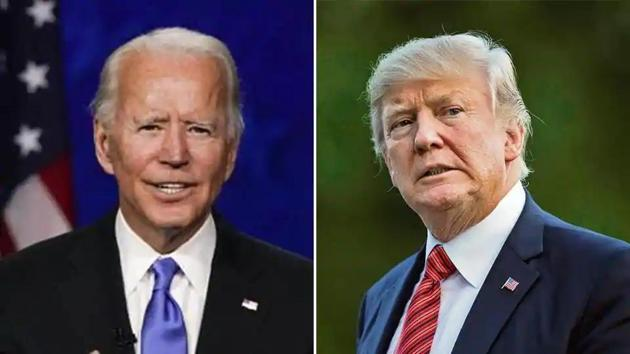 Democratic Party's Joe Biden is up against Donald Trump for the post of US president in the 2020 US elections. (Bloomberg Photo/AP Photo )