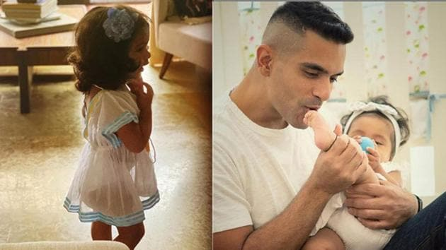 Neha Dhupia and Angad Bedi have shared adorable pictures and video of their daughter Mehr.