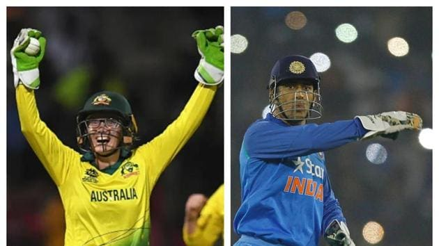 File images of Alyssa Healy and MS Dhoni.(Getty/HT Collage)