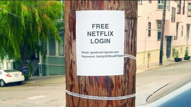The image shows the password of the 'free' Netflix account.(Instagram/@pablo.rochat)