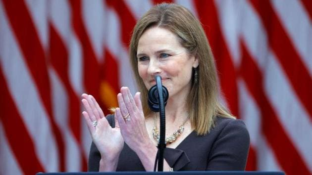Amy Coney Barrett has been nominated to the Supreme Court by Donald Trump(REUTERS)