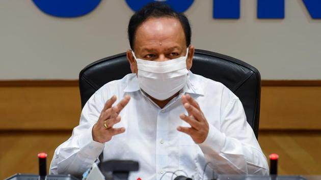 Union health minister Dr. Harsh Vardhan during the release of a compendium 'CSIR Technologies for Covid-19 Mitigation' in New Delhi on July 30,2020.(PTI File Photo)