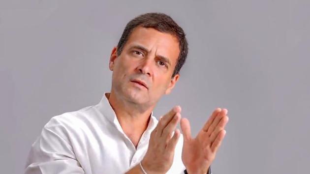 File photo of Congress leader Rahul Gandhi.(PTI)