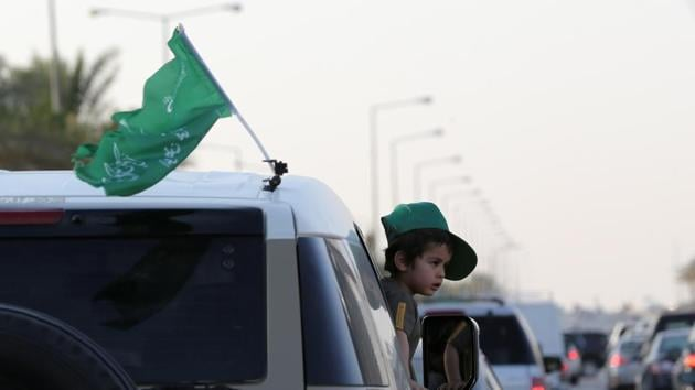 Celebrations on the occasion of Saudi Arabia's 90th annual National Day on September 23.(REUTERS)