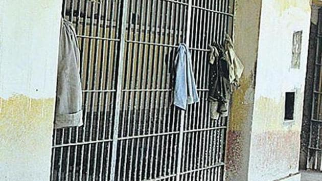 In a separate development, eight Covid-19 positive prisoners in the district prison have been put up in a separate barrack. (Image used for representation).(HT PHOTO.)
