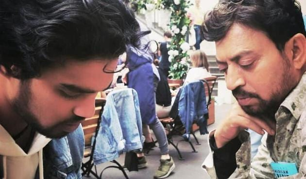 Irrfan Khan and Babil in a throwback photo.