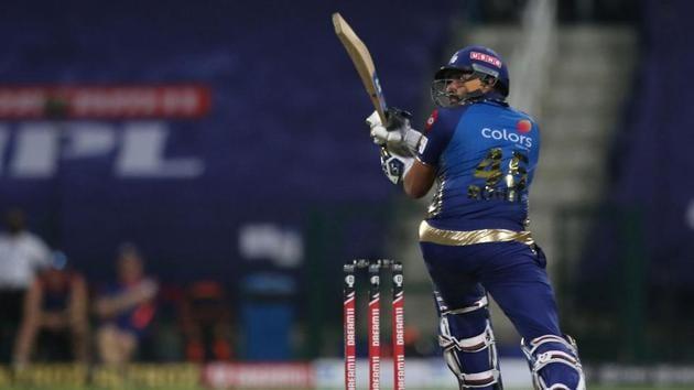 IPL 2020 MI vs RCB: Rohit Sharma in action against Kolkata Knight Riders(IPL/Twitter)
