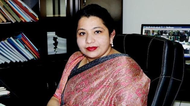 Principal Swapna Nair was also present during the online debate competition(HT Photo)