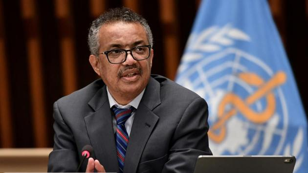 """WHO Director-General Tedros Adhanom Ghebreyesus hailed the program as """"good news"""" in the fight against Covid-19.(Reuters file photo)"""