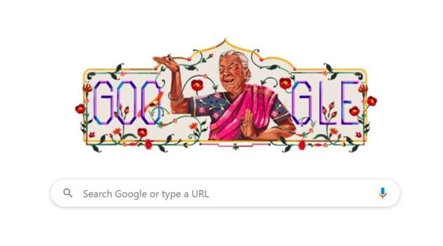 The Google Doodle featuring actress Zohra Sehgal .