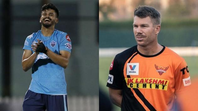 DC and SRH skippers Shreyas Iyer and David Warner.(IPL/Twitter)