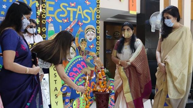 The inter-school event provided students a perfect platform to showcase skills(HT Photo)