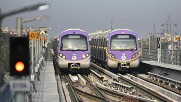 Metro services in Kolkata would be available only on the north-south section and not on the east-west corridor(HT FILE PHOTO)