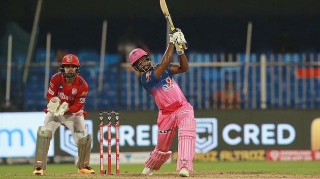 Sanju Samson in action against Kings XI Punjab.(IPL/Twitter)