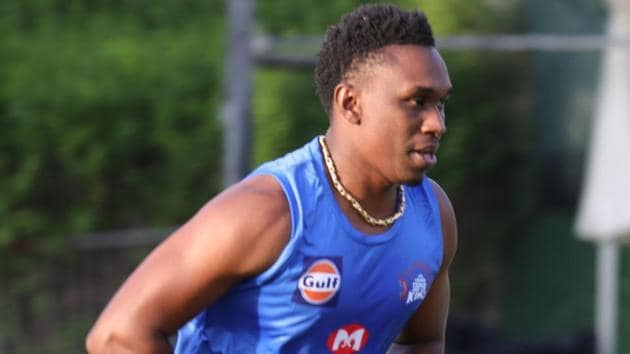 IPL 2020: Dwayne Bravo is yet to play for CSK this season(CSK/Twitter)