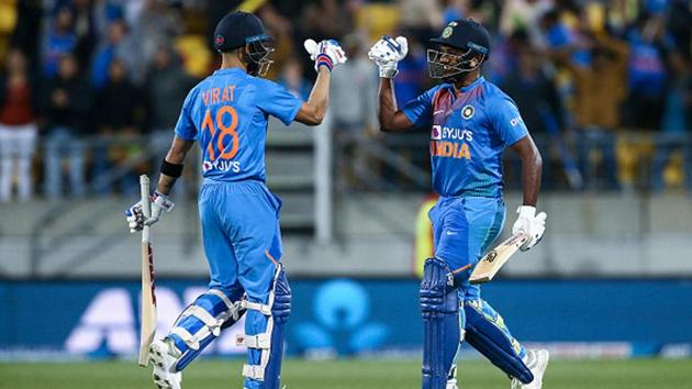 IPL 2020: Sanju Samson and Virat Kohli during a T20I in New Zealand earlier this year.(Getty Images)