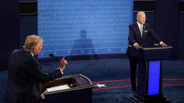 Joe Biden said that Trump and Barrett want to strike down the Affordable Care Act, costing 20 million people their health insurance.(AP)