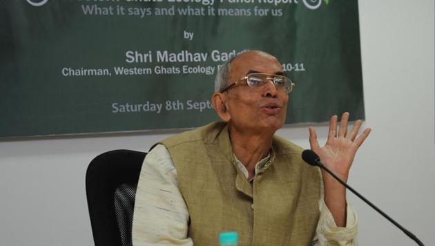 An environment ministry panel led by ecologist Madhav Gadgil in 2011 recommended that 129,037 sq km in the Western Ghats be notified as eco-sensitive and protected. But another panel reduced the proposed area further.(HT file)