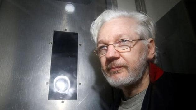 Assange lived in the embassy for seven years from 2012 after seeking refuge there while fearing his potential extradition to the US He was evicted in April 2019 and has been in a London prison since.(Reuters file photo)