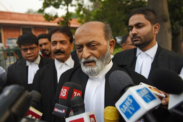 Zafaryab Jilani said that the verdict will be challenged in high court.(Sanchit Khanna/ Hindustan Times)