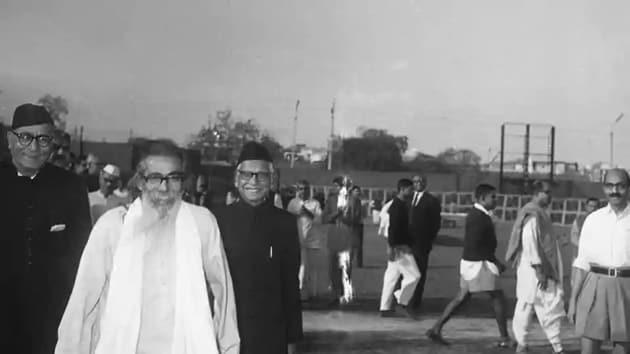 MS Golwalkar of the RSS, who met Mahatma Gandhi in September 1947.(HT Archives)