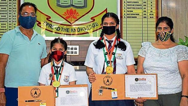 The young achievers brought laurels to their school with their performances.(HT)