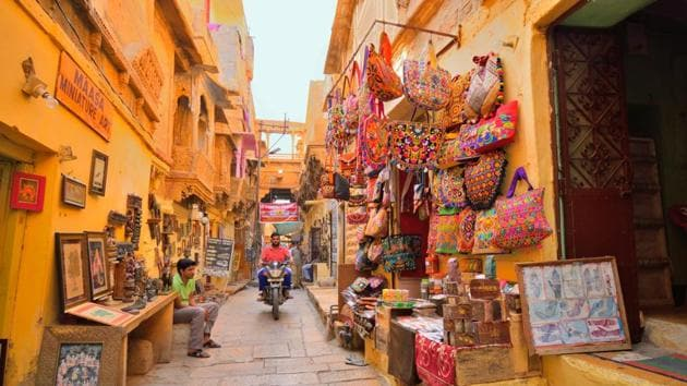Look back to plan for the future. Heritage towns such as Jaisalmer are great examples of how built-up areas can be cooler and improve microclimate(Shutterstock)