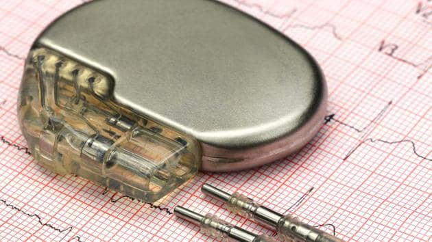 Heart diseases, chronic respiratory illnesses and strokes are among the top 3 diseases which continue to kill more citizens more than any other disease. In this picture, a pacemaker is placed above an electrocardiograph.(HT Archives)