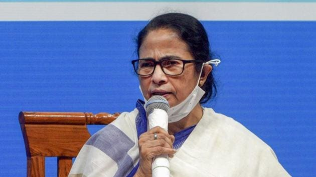 BJP leaders said Banerjee is attacking Uttar Pradesh chief minister Yogi Adityanath over Hathras gangarape, but keeping India in the dark about the law and order situation in her own state.(PTI)