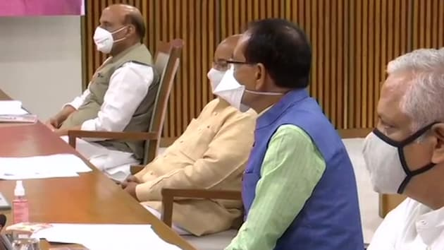 BJP leaders at Central Election Committee meeting(ANI Photo)