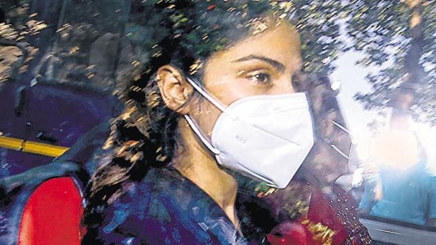 Bollywood actor Rhea Chakraborty.(PTI File)