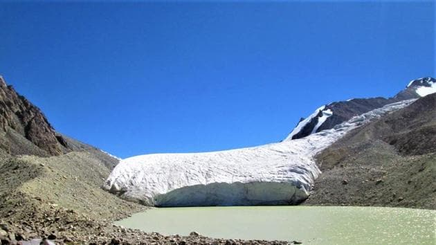 Glaciers in Karakoram range(Wadia Institute of Himalayan Geology/HT Photos)