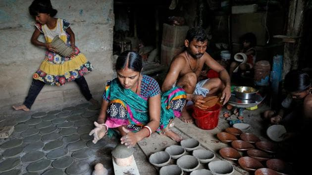China is focused on the production of machine-made alternatives, copying designs from India's vast resources of craft skills, practised even today by 16 million Indian citizens(REUTERS)