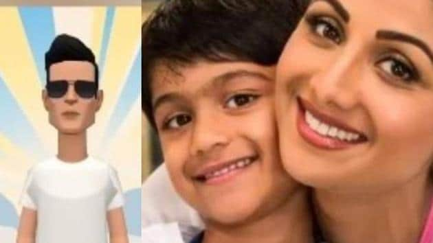Shilpa Shetty's son Viaan has paid tribute to Sonu Sood in his school project.