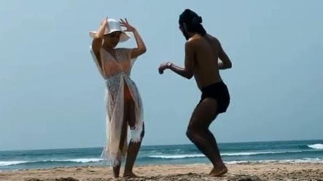 Nora Fatehi unwinds at the beach.