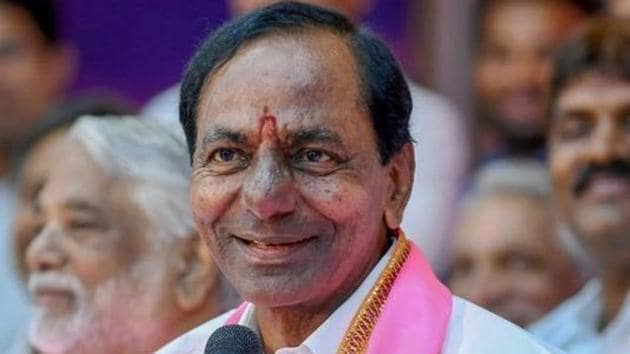 File photo: Telangana Rashtra Samithi (TRS) president and Telangana chief minister K Chandrashekar Rao.(PTI)