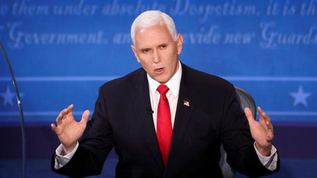 The US Vice-Presidential debate on Wednesday (local time) witnessed a sharp exchange of words between Vice President Mike Pence and his rival Kamala Harris over President Donald Trump's handling of the coronavirus pandemic.(Reuters Photo)