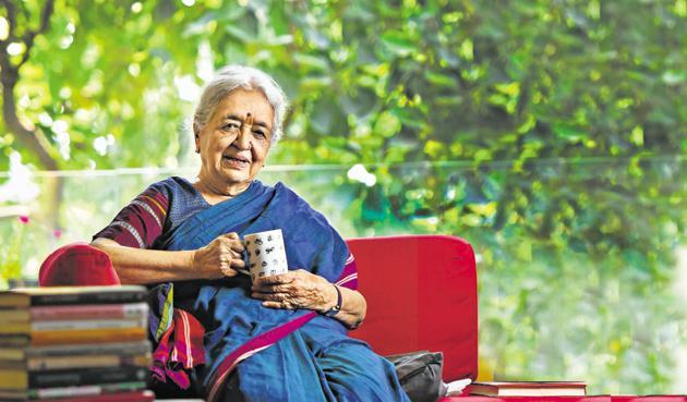 Jain at her home in Defence Colony, New Delhi.(Raj K Raj / HT Photo)