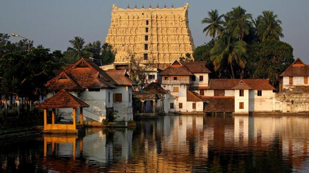 Sree Padmanabhaswamy temple in Thiruvananthapuram has been closed for the second time due to Covid-19 scare.(REUTERS photo)