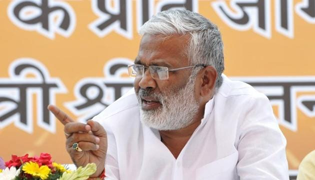 UP BJP unit president Swatantra Dev Singh was authorised for finalising the names of party candidates for bypolls in the state.(HT Photo)