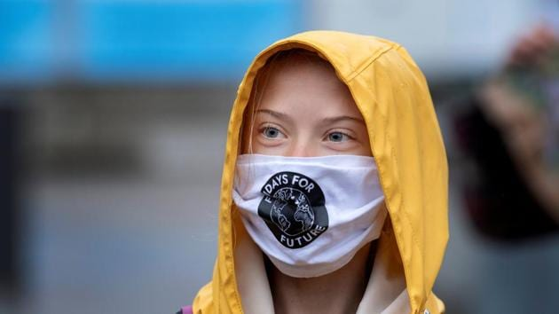 Swedish climate activist Greta Thunberg attends a 'Fridays For Future' protest at the Swedish Parliament (Riksdagen) in Stockholm.(via REUTERS)