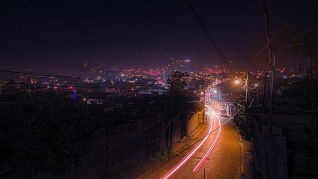Gurugram, Haryana pictured at night.(Unsplash)