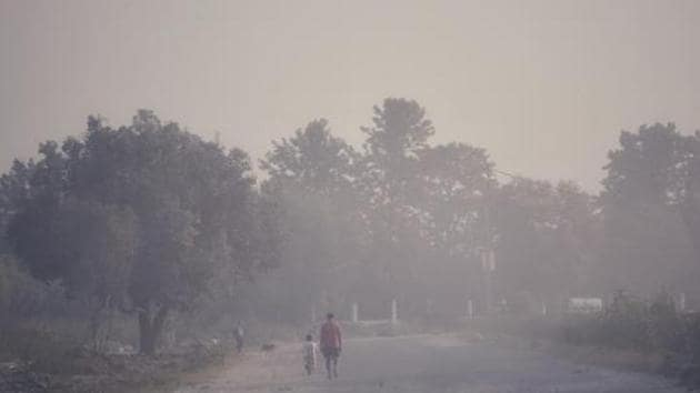 Due to stubble burning around Punjab, Haryana, and neighbouring border regions, the fire count was found at 253 on Saturday, SAFAR said.(Vipin Kumar/HT PHOTO)