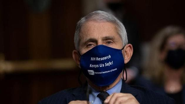 Anthony Fauci, MD, Director, National Institute of Allergy and Infectious Diseases, National Institutes of Health, testifies during a US Senate Senate Health, Education, Labor, and Pensions Committee Hearing to examine Covid-19, focusing on an update on the federal response at the US Capitol.(REUTERS)