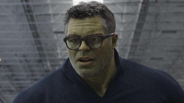 Mark Ruffalo as Smart Hulk in a still from Avengers: Endgame.