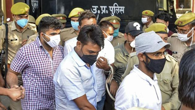 A journalist from Kerala was accused of sedition and various offences under the Unlawful Activities (Prevention) Act, 1967, (UAPA) and arrested on the way to Hathras on October 7(PTI)