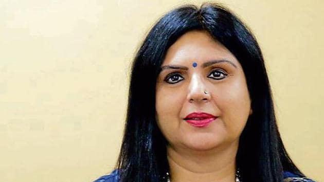 Geeta Gangwani, Principal, Bal Bharati Public School, Rohini.(HT)